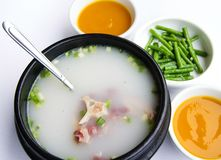 South korea food. Delicious soup of south korea Stock Image