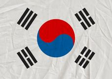 South korea grunge flag royalty free stock images