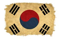 South Korea grunge flag royalty free stock photography