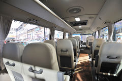 South Korea hyundai  COUNTY bus interior Stock Image