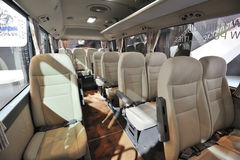 South Korea hyundai  COUNTY bus interior Stock Photography
