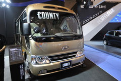 South Korea hyundai  COUNTY bus Stock Photos