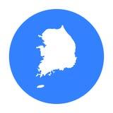 South Korea icon in black style isolated on white background. South Korea symbol stock vector illustration. Stock Photo