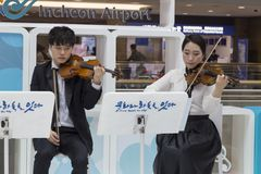 South Korea, Incheon International Airport. Concert of classical royalty free stock images