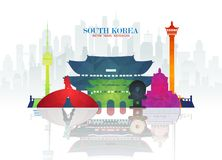 Free South Korea Landmark Global Travel And Journey Paper Background. Vector Design Template.used For Your Advertisement, Book, Banner Stock Photo - 144638400