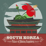 South Korea landmarks. Retro styled image Royalty Free Stock Photography