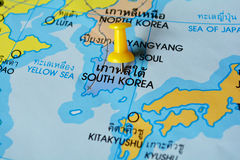South korea map Stock Photography