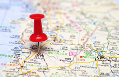 South Korea map, statewide tourism.  royalty free stock image