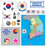 South Korea map Stock Images