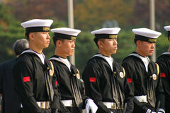 South Korea Navy. View of sailors from the navy of South Korea, Seoul Stock Photo