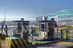 South Korea, North Korean Border Checkpoint Stock Images