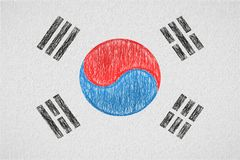 South korea painted flag royalty free illustration