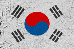 South korea painted flag stock illustration