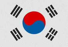 South korea paper flag royalty free illustration