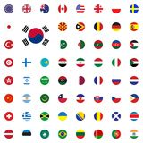 South Korea round flag icon. Round World Flags Vector illustration Icons Set. South Korea round flag icon. Round World Flags Vector illustration Icons Set Royalty Free Stock Images