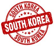 South Korea stamp. South Korea round grunge stamp isolated on white background. South Korea royalty free illustration