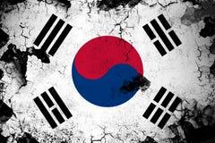 South korea rusty and grunge flag illustration royalty free illustration