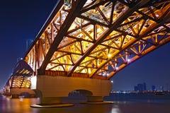 South Korea's beautiful bridge stock photography