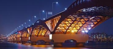 South Korea's beautiful bridge stock photo