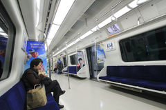South Korea Seoul city train Royalty Free Stock Image