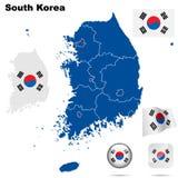 South Korea   set. Stock Photo