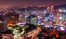 South Korea skyline. Royalty Free Stock Photography