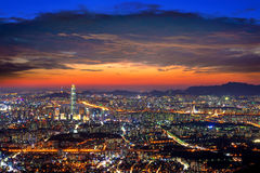 South Korea skyline of Seoul, The best view of South Korea. Royalty Free Stock Image