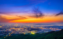 South Korea skyline of Seoul, The best view of South Korea. Royalty Free Stock Images