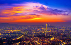 South Korea skyline of Seoul, The best view of South Korea. Royalty Free Stock Photography