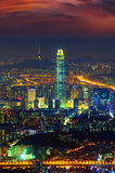 South Korea skyline of Seoul, The best view of South Korea. Stock Photos