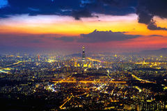 South Korea skyline of Seoul, The best view of South Korea. Royalty Free Stock Photos