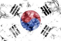 South Korea smoke flag isolated on a white background. South Korea smoke flag isolated on a white background royalty free stock image