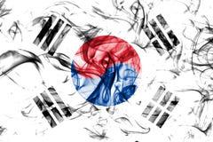 South Korea smoke flag on a white background.  royalty free stock image