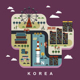 South Korea travel concept Royalty Free Stock Images