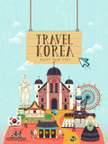 South Korea travel concept poster Royalty Free Stock Images