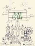 South Korea travel poster Royalty Free Stock Photography