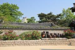 South Korea Village in Seoul Folk Stock Photo