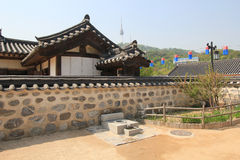 South Korea Village in Seoul Folk Stock Photos