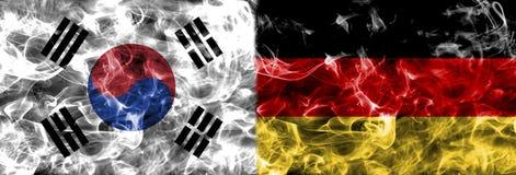 South Korea vs Germany smoke flag, group F, Fifa football world. Cup 2018, Moscow, Russia Royalty Free Stock Image