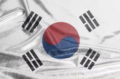 South Korea Waving Flag. Background close up royalty free stock image