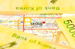 South Korea Won bank note Stock Photo