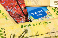 South Korea Won bank note Stock Images