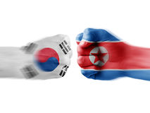 South korea x north korea Royalty Free Stock Image