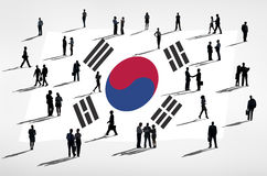 South Korean Business People on White Background Royalty Free Stock Image
