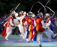 South korean dancers. International folklor festival Veliko Turnovo Bulgaria photo taken on July 30 2009 Royalty Free Stock Photos