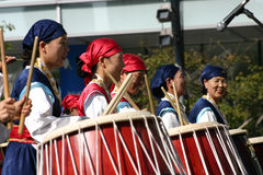 South Korean Drum Festival Stock Images