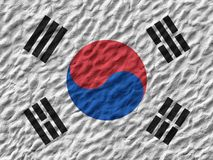 South Korean flag painted on the wall. royalty free stock photo