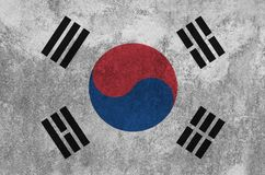 South Korean flag painted on the wall. stock images