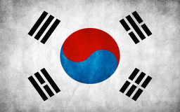 South Korean flag Royalty Free Stock Images