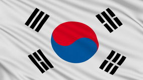 South Korean flag. Stock Photos